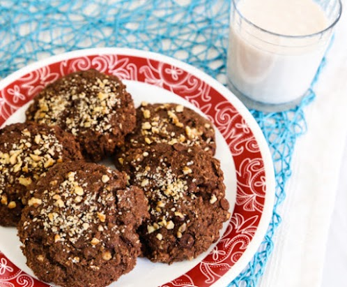 Vegan Chocolate Chip Oatmeal Cookies