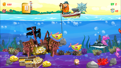 Gold miner, Fishing, gold rush apkmr screenshots 11