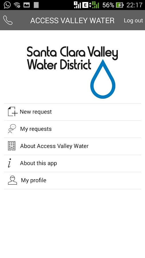 Access Valley Water- screenshot