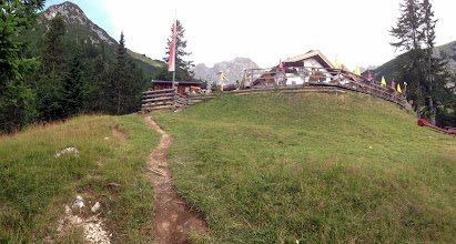 Photo: Wetterstein Hut. Magnificent view from up here