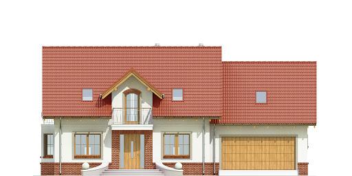 Dom Dla Ciebie 1 w2 z garażem 2-st. A1 - Elewacja przednia