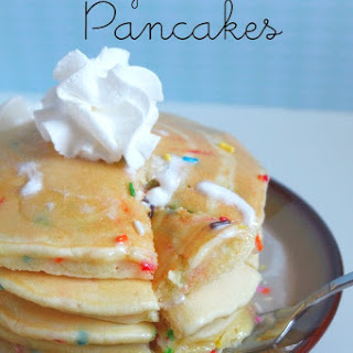 Birthday Cake Batter Pancakes.
