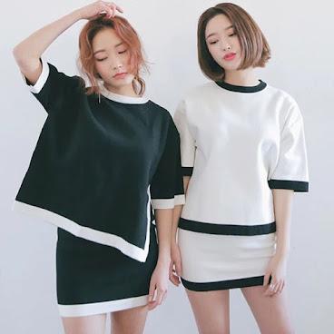 新款韓版套裝 $179 (上衣+下身裙) 有興趣聯絡:6991-7992