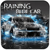Raining Blue Car
