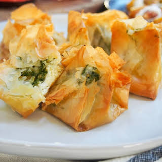 Pesto Goats Cheese Filo Parcels.
