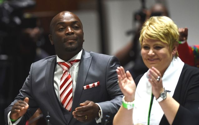 Solly Msimanga and Marietha Aucamp. Picture: SUPPLIED