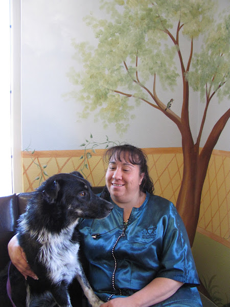 Photo: Granddog, Nikki, with Jenny. She and Nikki's dad, Anthony, are both Enchantment employees.