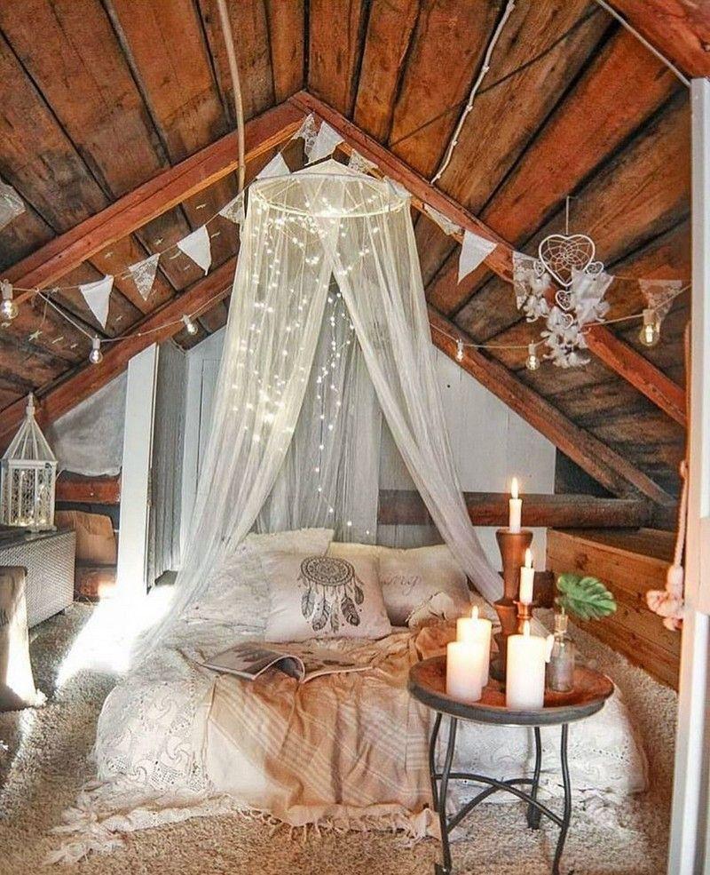 Bohemian Attic room Ideas