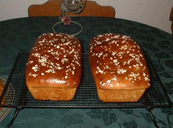 Honey Oatmeal Bread Fresh Out Of The Oven!  Yum!