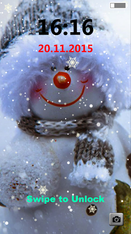 android Snowman Lock Screen Screenshot 1