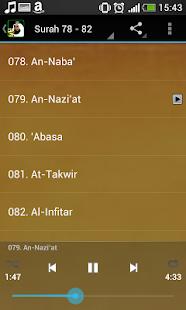Abu Bakr Shatri juz Amma MP3 - náhled