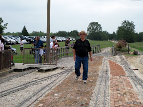 Photo: Gary Brothers wondering where his loco is now.    HALS 2009-0919