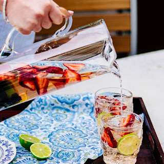 Rosé Sangria with Berries and Stone Fruit