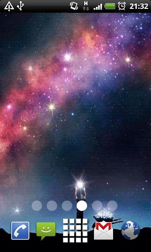 Sparkle Galaxy Live Wallpaper
