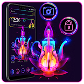 Neon Magic Lamp Theme⚜️ Android APK Download Free By ThemesDesignStudio
