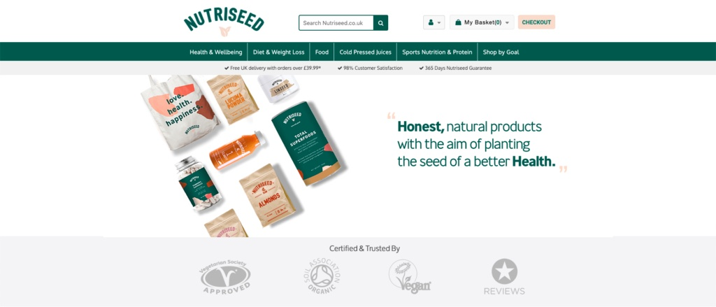 trust signs landing page