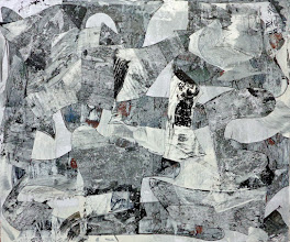 """Photo: Pagan Breathing (enamel, charcoal and bond paper on canvas) 50x60"""" 2013"""