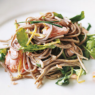 Soba with Salmon and Watercress.