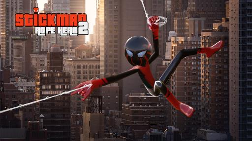 Spider Stickman Rope Hero 2 - Vegas Gangster Crime apktram screenshots 5