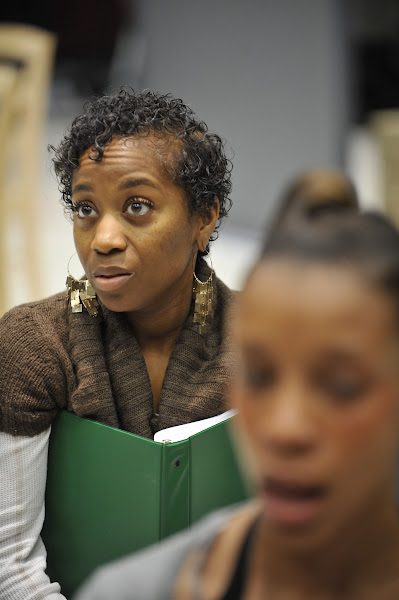 Photo: Alexis Rogers (Jeanette) rehearses Regina Taylor's 10th anniversary production of Crowns at Goodman Theatre (June 30 – August 5).