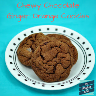 Chewy Chocolate Ginger Orange Cookies