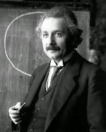 Porträt Albert Einstein.