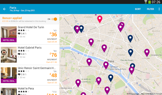 ebookers: Hotel, Flights, Cars - screenshot thumbnail