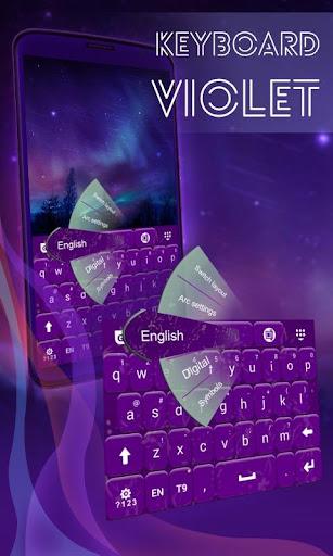 紫色のキーボード