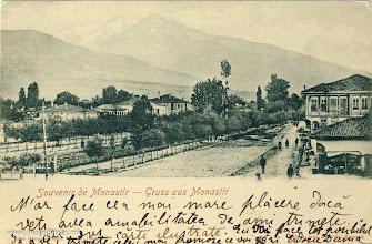 Photo: 8. Панорама на Битола кон Пелистер. Испратена на 15 ноември 1903 година за Букурешт, Романија.