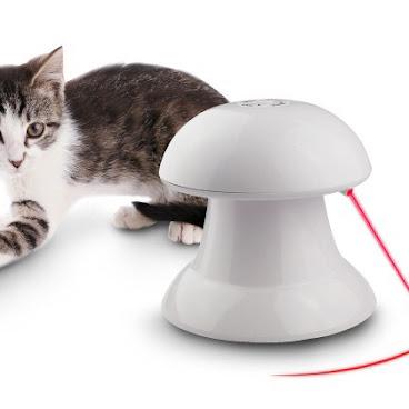 自動旋轉電動鐳射激光寵物玩具