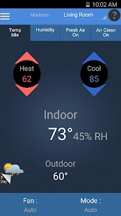 Aprilaire Wi-Fi Thermostat App- screenshot thumbnail