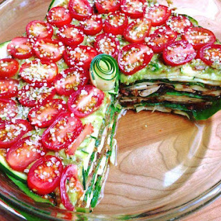 Lean 'n Light Raw Lasagna With Pine Nut Cheese.