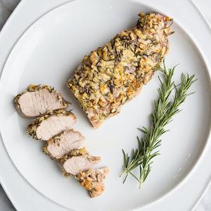 Rosemary Garlic Parmesan Pork Tenderloin