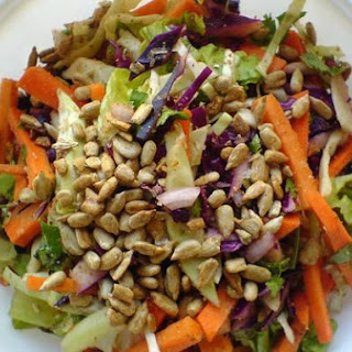 Carrot and Cabbage Salad With Coriander+cumin Dry Rub.