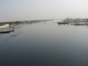 Photo: Famous Sitalakshya River of the port of Narayanganj on the way to and from Baradi Dham as viewed from the bridge on the Highway between Dhaka (old) City and the village of Baradi (4 consecutive pictures)