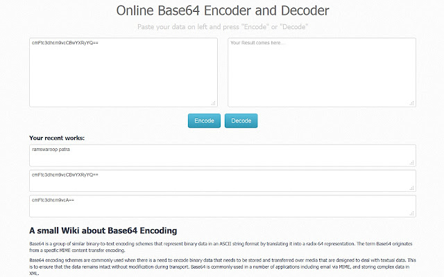 Base64 Encoder and Decoder