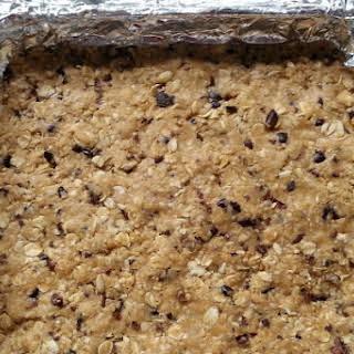 No-Bake Gluten Free, Vegan Peanut Butter bars.