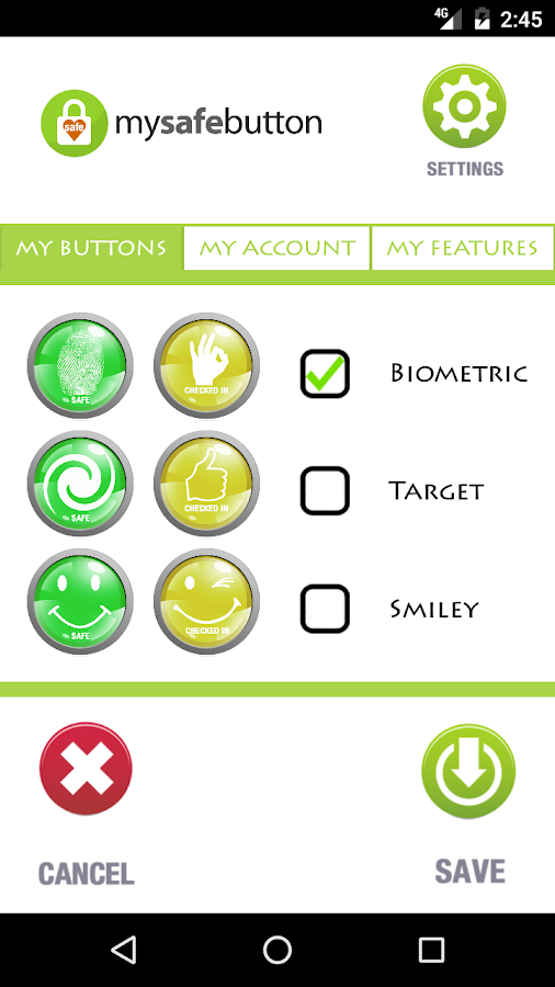 My Safe Button- screenshot