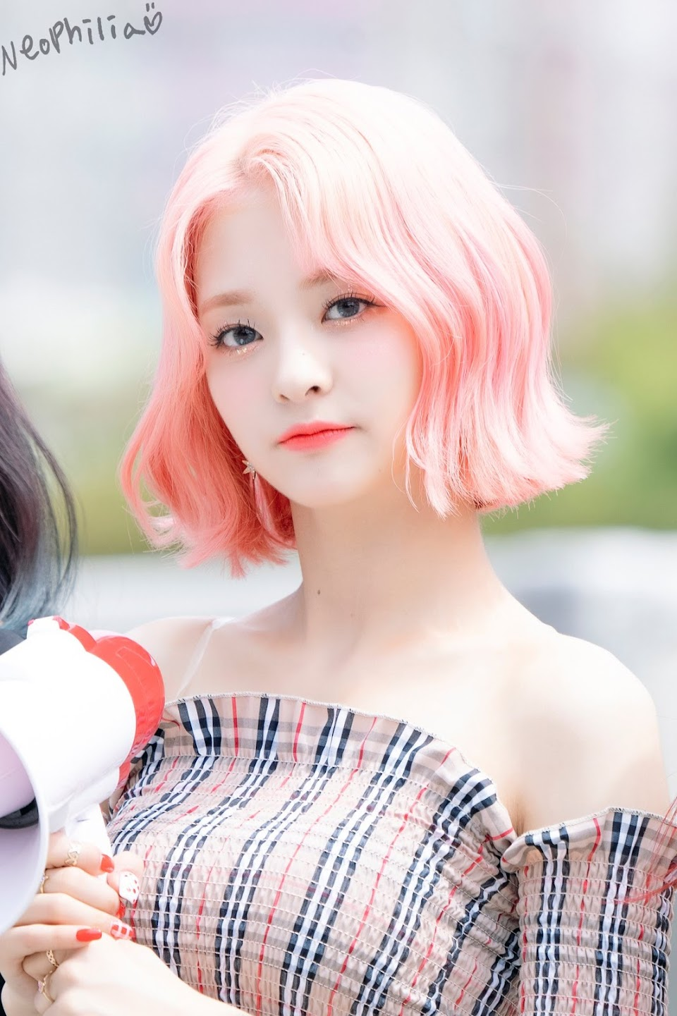 pink curly 47