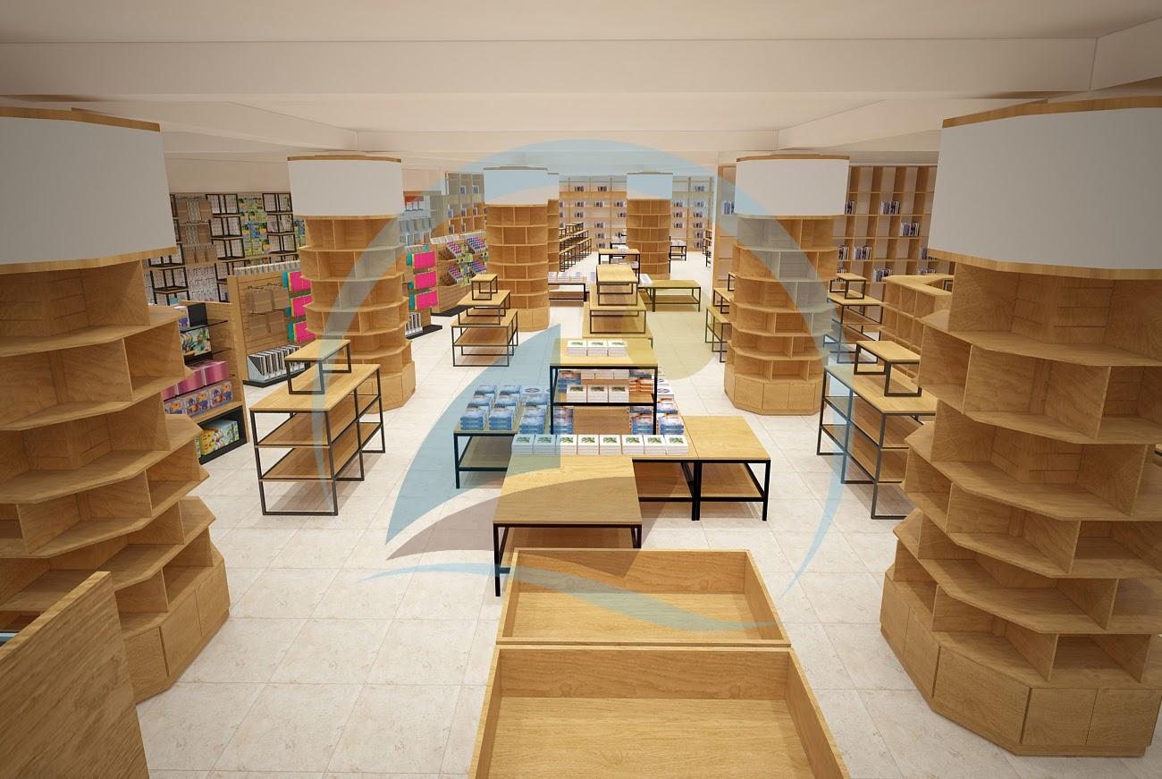 thiết kế nội thất nhà sách Trí Đức 3