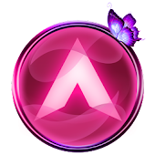 Arc Launcher Pink Butterfly Theme + Icon Pack