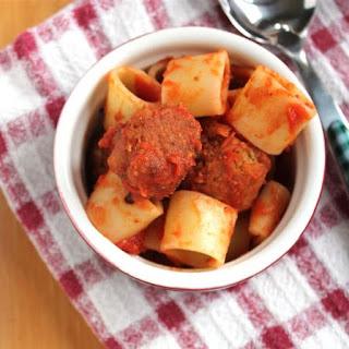 Spaghetti-Nos with Mini Lentil Meatballs (VEGAN!)