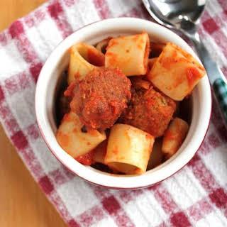Spaghetti-Nos with Mini Lentil Meatballs (VEGAN!).