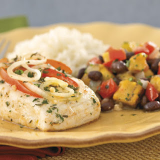 Citrus Garlic Baked Fish with Rice