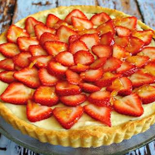 Strawberry Nutella Cream Tart.