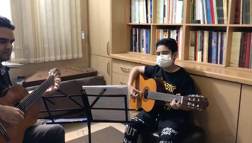 مانى رحيمى تمرين ريتم و ملودى ٣/٤ هنرجوی گیتار فرزین نیازخانی