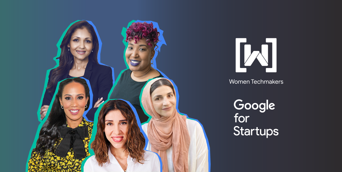 A banner for the Founded podcast series featuring 5 women.