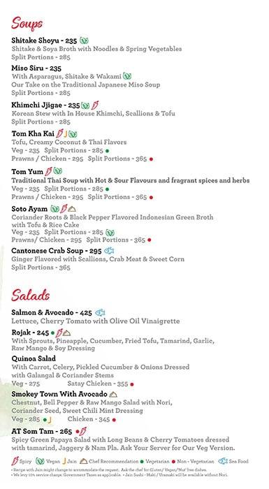 Asian Town menu 1