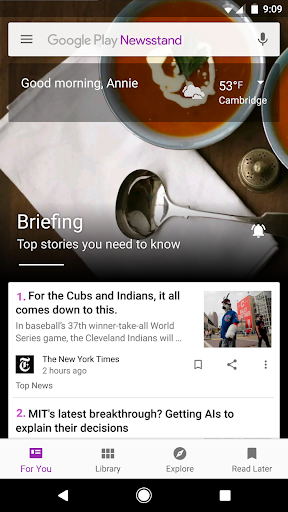 Google Play Newsstand screenshot 1