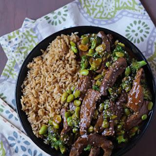 Beef, Broccoli & Edamame Stir Fry
